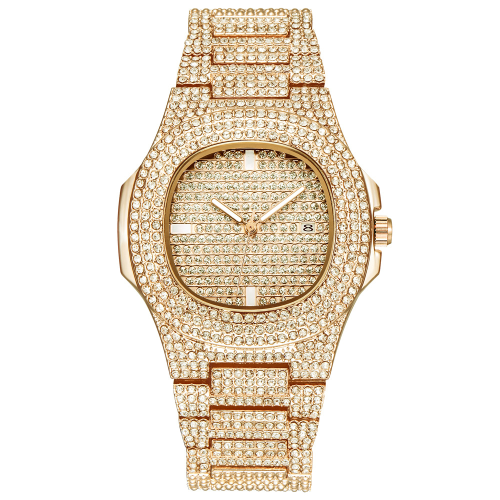free drop shipping mens watches womens luxury gold tone ice out diamond watch quartz wristwatches for women 2020 new arrival wholesale (21)