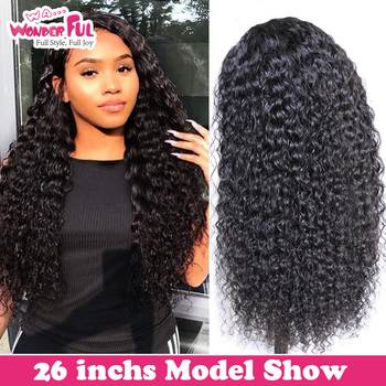 WA...WONDERFUL Deep Wave 13X4 Lace Front Wig Remy Human Hair Wigs Natural Color 8-28 30 Inch  WH 13X4 LACE DIY DEEP WAVE WIG alidoremi brazilian deep wave 13x4 lace front wig 100% human hair wigs 8 26inch natural color non remy hair