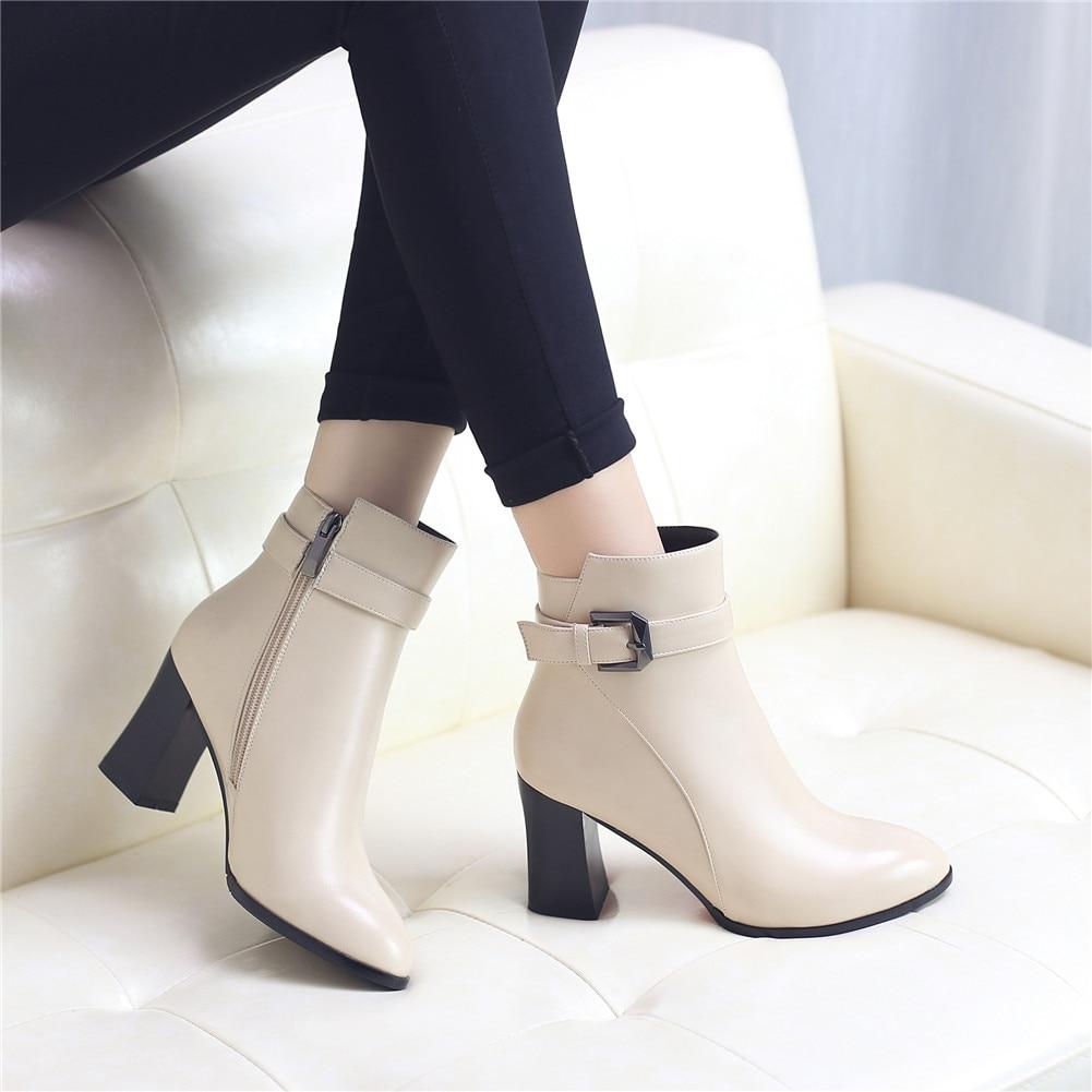 Lapolaka nouveau Top qualité bureau dame chaussures femmes bottes femme élégant Chunky talons hauts chaussures femme bottines femme