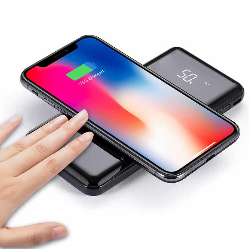 30000mah כוח בנק חיצוני סוללה בנק מובנה אלחוטי מטען Powerbank נייד צ 'י אלחוטי מטען עבור iPhone שיאו mi mi