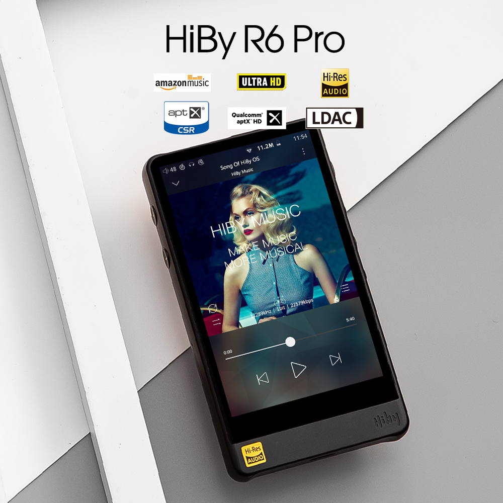HiBy R6Pro (Aluminium Legierung) Verlustfreie Musik-<font><b>Player</b></font> Digital Audio Hallo-fi Bluetooth <font><b>MP3</b></font> <font><b>Player</b></font> Amazon Musik Ultra HD image