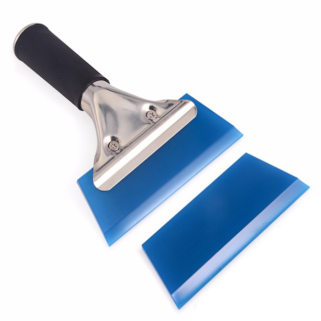 EHDIS Automotive Handled Scraper With Rubber Blade Film Wrapping Vinyl Applicator Tool Sticker Remover Window Tint Snow Squeegee