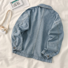 Internet Celebrity Denim Jacket Women's Hong Kong Style Loose BF Style Korean Style Work Clothes Ins Trendy Spring and Autumn