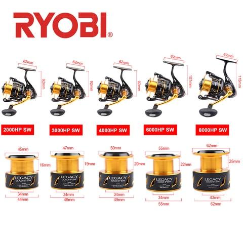 ryobi legacy fiacao carretel de pesca 20003000400060008000