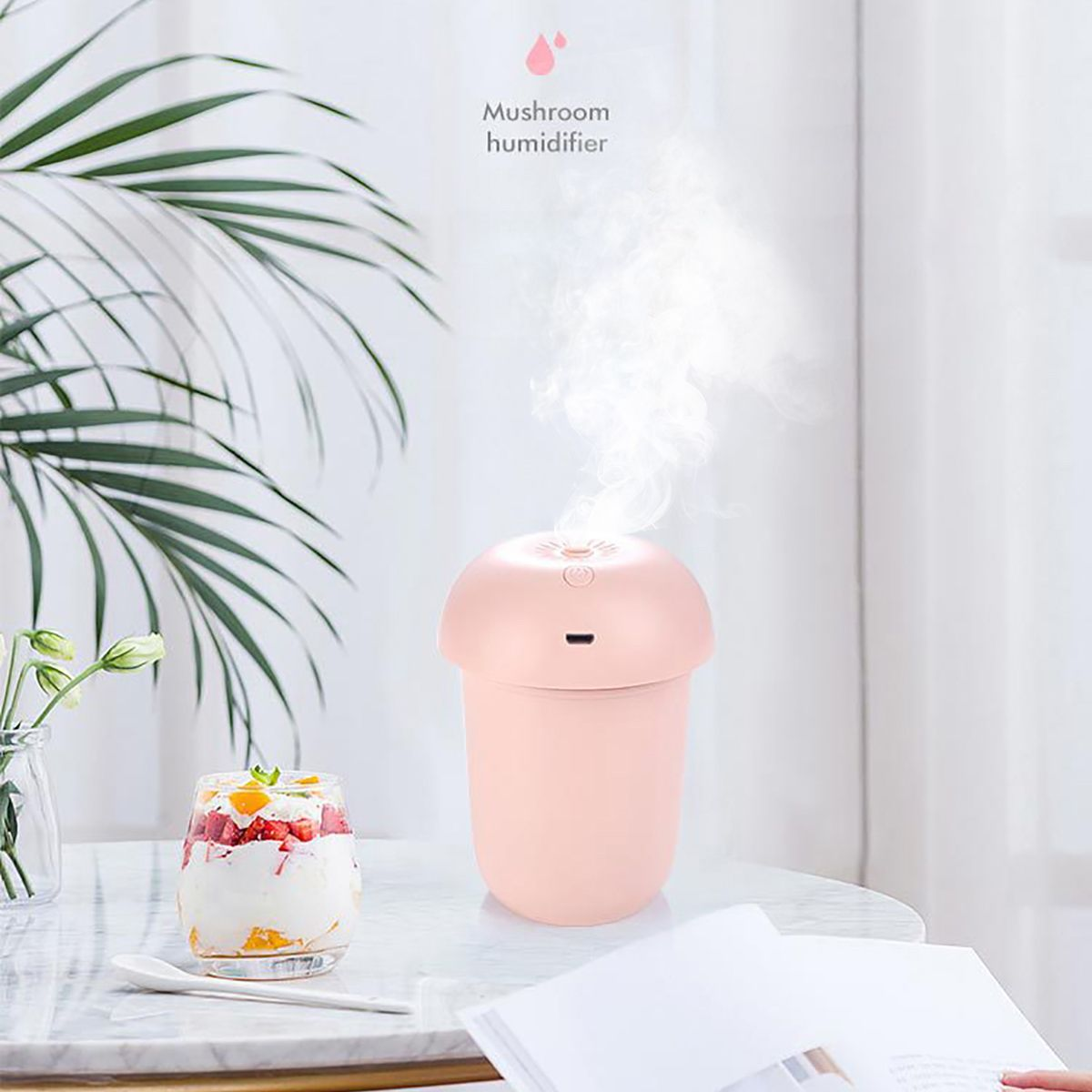 Household Mini Air Humidifier For Home Car USB Bottle Aroma Diffuser LED Backlight Office Mist Maker Refresher Humidification