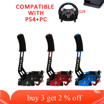 New PS4 PC USB Hand Brake+Clamp For Racing Games G295 G27 G29G920 T300RS Logitech Brake System Handbrake Auto With Fixture Parts sim usb handbrake for racing games g25 27 29 t500 fanatecosw dirt rally black hb 02 bk