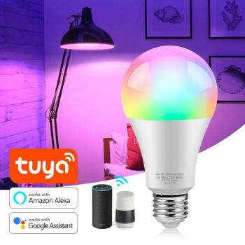 Tuya Smart Life 2.4G WiFi LED Light Bulb E27 9W 16 Million RGB +W Full Color Dimmable LED lamp Work with Alexa, Echo,Google Home Home & Living LED Bulb & Lighting Lighting