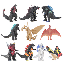 10pcs/set Anime Movie Gojira Pvc action Figures sets cartoon Toys Collectible model dolls Christmas gifts for Children cute nyan board cat in danboard mini pvc action figures collectible model toys gifts 10pcs set 7cm