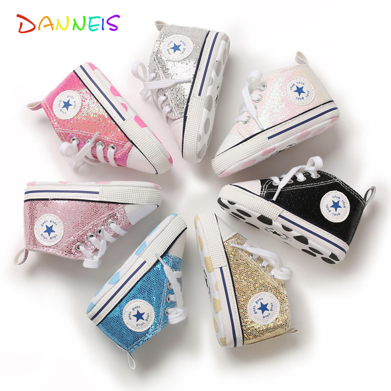 Shiny Upper Baby Shoes Moccasins Soft Sole Infant Girls Boys Sports Shoes Toddlers First Walkers 2020 Newborn Baby Prewalkers 1