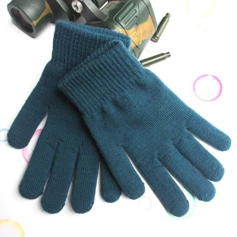 Winter Warm Men And Women Thickening Plus Velvet Touch Screen Anti-skid Cotton Gloves