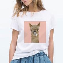 Cute Shirts Alpaca Clothes Oversize Graphic 90s Punk Harajuku Summer Grunge Streetwear