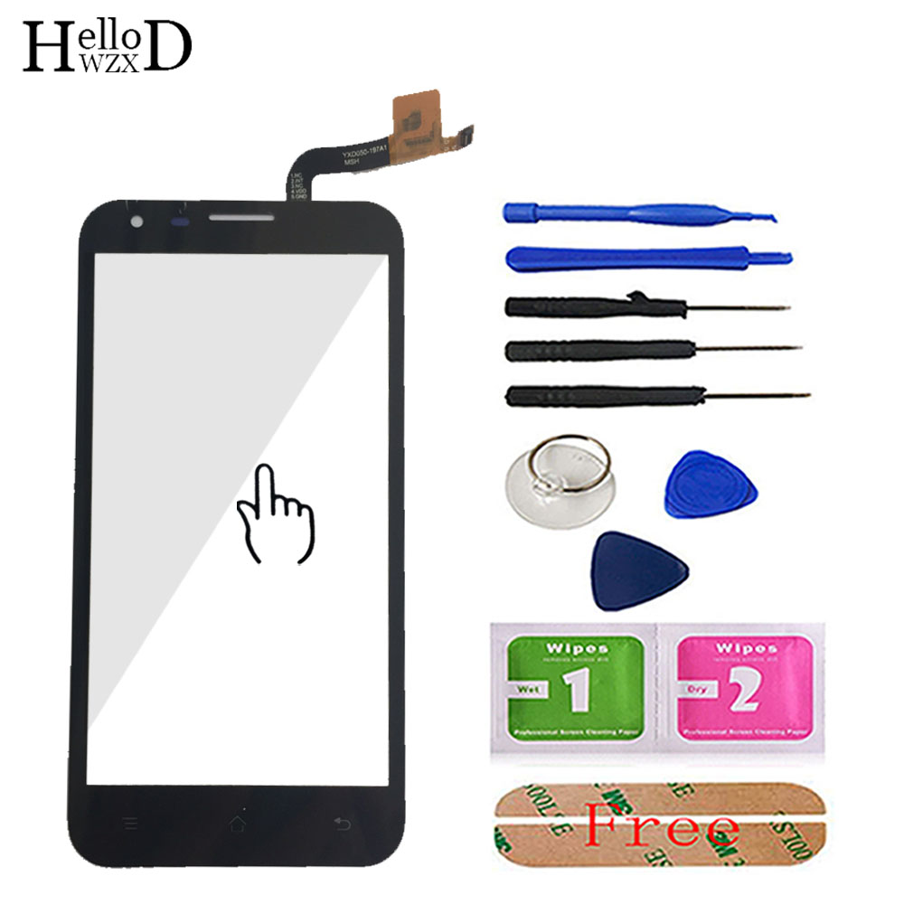Touch Screen Glass For Fly IQ454 454 Touch Screen Digitizer Glass Panel Lens Sensor Repair Parts Tools HighScreen Adhesive