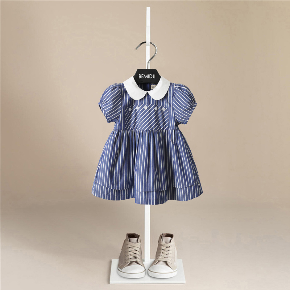Closeout DealsFashion Girl Dress Plaid Princess Sleeveless Spring Outfit Causal Cute Dress for 1-5 Years Birthday Party Uniform Girl clothes