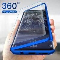 Funda protectora completa con cristal para teléfono móvil, cubierta completa 360 funda de teléfono para Xiaomi A1 A2 8 9 10 Lite SE 10T antigolpes para Mi Poco X3 M3 CC9E