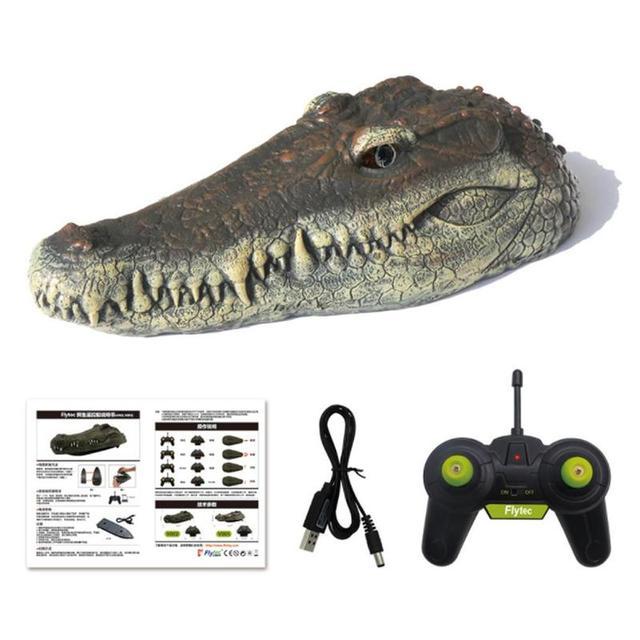 New V005 RC Crocodile Head 2.4G Remote Control RC Boat Joke Joke Maker Fun Novelty Simulation Spoof Toy Halloween Decoration