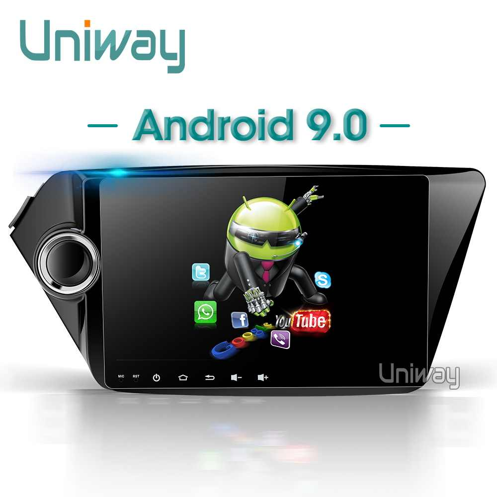 AK29071 Uniway אנדרואיד 9.0 רכב dvd עבור קאיה ריו k2 2012 2013 2015 2016 רכב רדיו סטריאו gps ניווט לרכב וידאו אודיו נגן gps