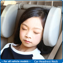 Car Headrest Neck Cushion Interior Auto Universal Neck Adjust Cotton Cushion Head for Travel Rest Pillow Protector Accessories(China)