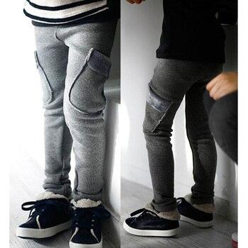 Autumn winter kids warm fleece pants children clothing thick trousers boys pants 1