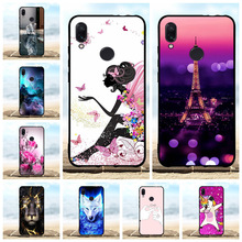 For Xiaomi Redmi Note 7 Case Soft TPU Silicone Pro Cover Girl Patterned Shell Funda