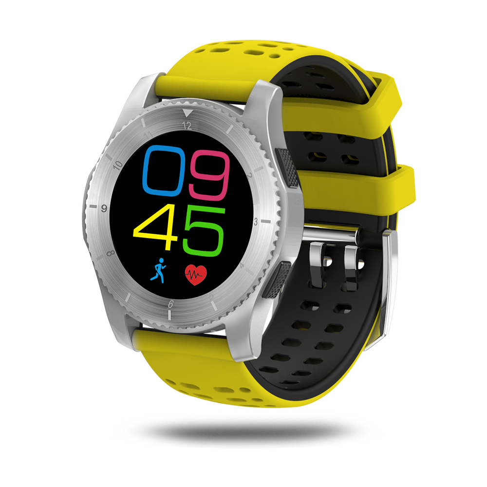 Smartwatch Bluetooth 4.0 SIM appel Message pression artérielle moniteur de fréquence cardiaque bande intelligente montres pour IOS Android Smartphone