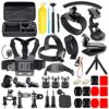 FULL 50 in 1 Action Camera Accessories Kit for GoPro Hero 2018 GoPro Hero6 5 4 3 Carrying Case/Chest Strap/Octopus Tripod