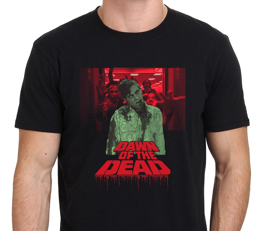 Dawn Of The Dead Vintage Zombie Horror Movie Poster T Shirt Size S To 4Xl