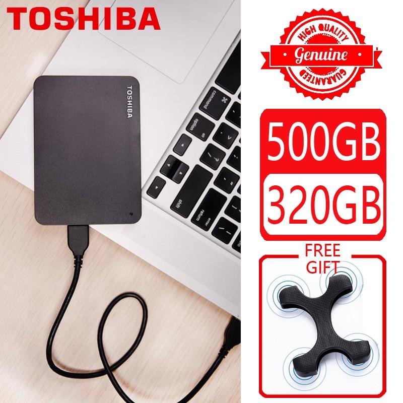 Внешний жесткий диск TOSHIBA 500 Гб 320 ГБ, HDD HD портативное устройство для хранения CANVIO USB 3,0 SATA 2,5