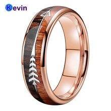 Обручальное кольцо из розового золота мужской и женский вольфрамовый