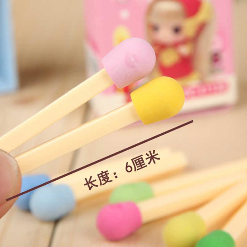 8 cái/bộ Kawaii Trận Đấu Hình Bút Chì Tẩy Sáng Tạo Màu Bút Bi Tẩy Xóa Được Dành cho Trẻ Em Học Sinh Tặng Trường Văn Phòng Phẩm Cung Cấp