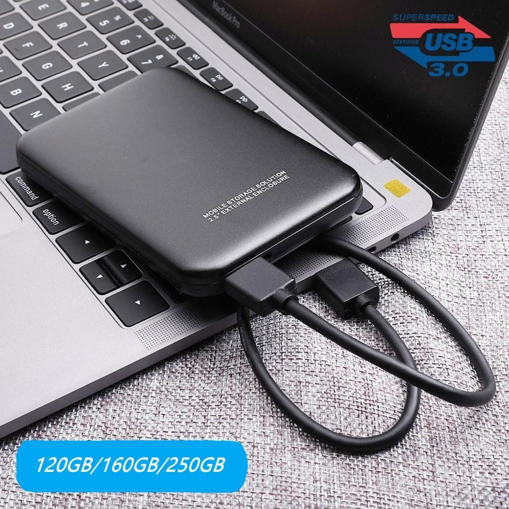 2.5 HDD Enclosure USB 3.0 To SATA SSD External Case 5Gbps Mobile HDD Enclosure, 120GB / 160GB / 250GB For Laptop HDD