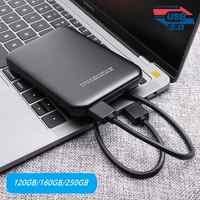 2,5 HDD gehäuse USB 3.0 zu SATA SSD externe fall 5Gbps mobile HDD gehäuse, 120 GB/160 GB/250 GB für laptop HDD