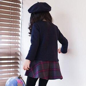 Image 2 - חדש 2020 ילדה שמלת תינוק נסיכת שמלת פנאי ילדים טלאי שמלת ילדי בגדי קלאסי משובצים פעוט שמלת כותנה, #3978