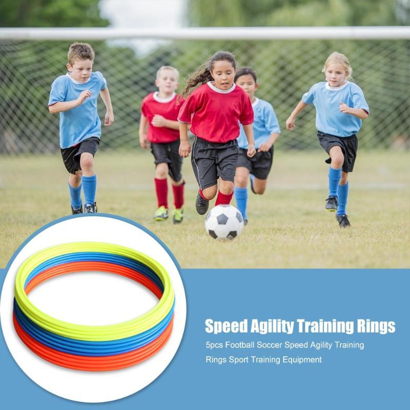 Hot Sale Agility Training Rings Hit Color 5x Football Soccer Speed Agility Training Rings Training Equipment 30cm 40cm Dia