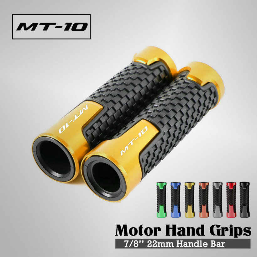 7/8 Cm 22 Mm Universal Motor Aluminium CNC Stang untuk Yamaha MT10 FZ10 2016-2019 Moto Menangani Bar Gel hand Grip
