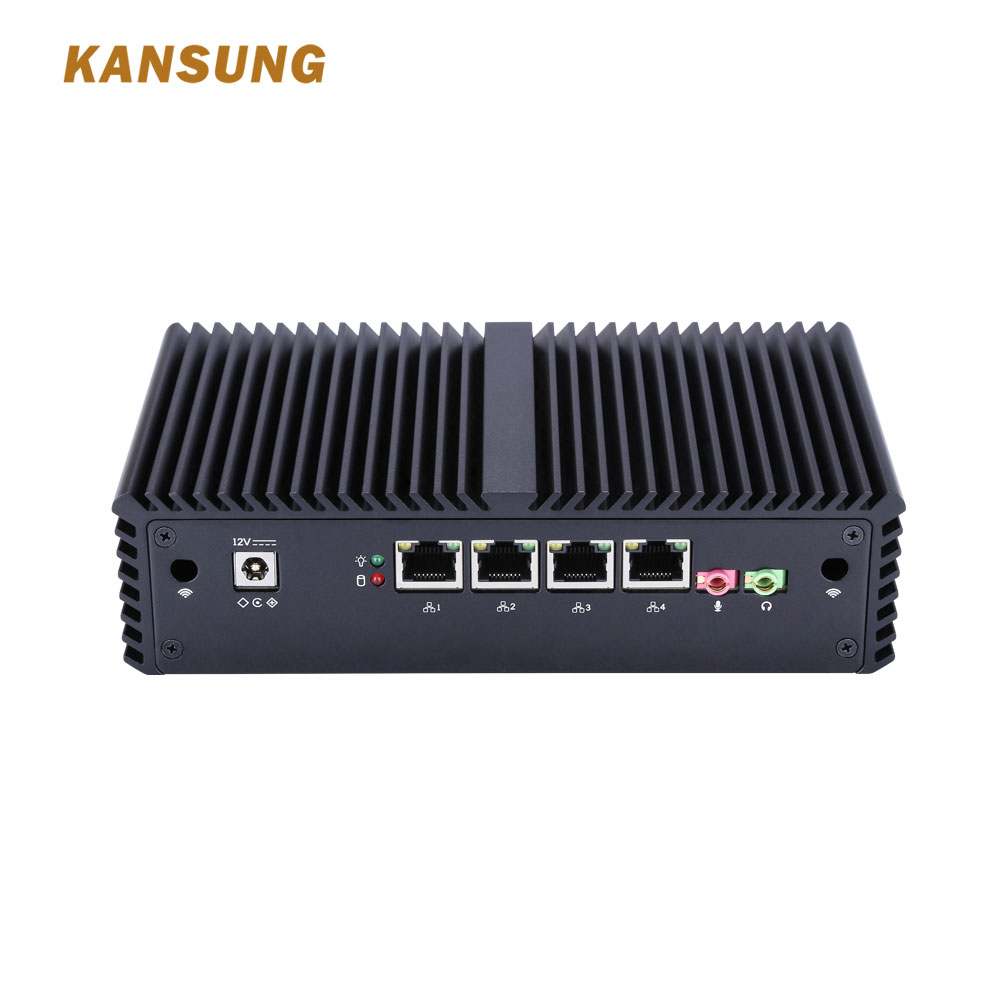 Mini PC I7 Windows 10 Linux 4 Lan Gaming Desktop Computers I7 Ram 32gb Fanless Firewall Server Computer