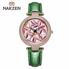 NAKZEN Luxury Brand Quartz Women Watches Fashion Leather Wristwatches Life Waterproof Clock Ladies Watch Gifts For Women Relojes