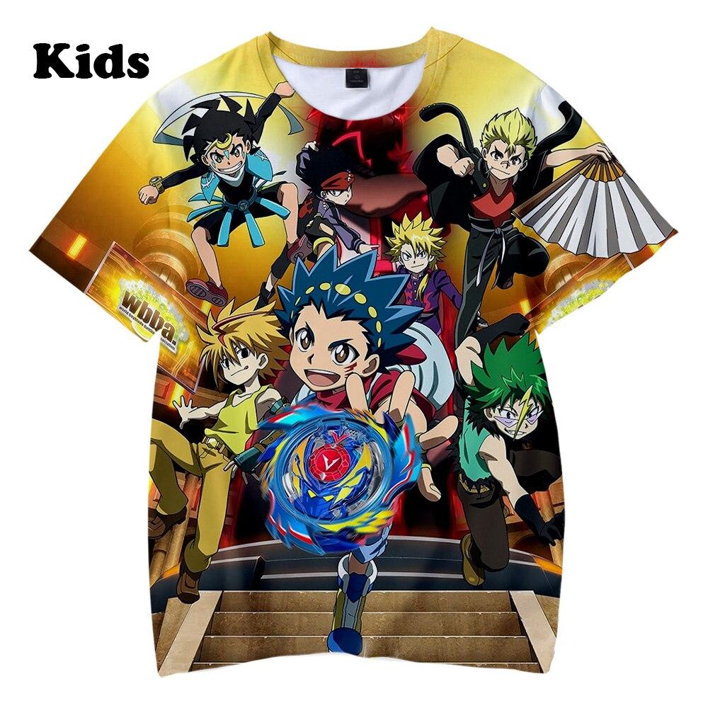3D Beyblade Burst Evolution T Shirt Boys Girls T-shirts Print Beyblade Burst Evolution Kids Casual Summer Children's 3D T Shirt