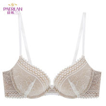 PAERLAN セクシーな快適レース花ブラジャーシームレスプッシュアップ調整可能な小型乳房の肥厚 3/4 カップワンピースの女性の下着