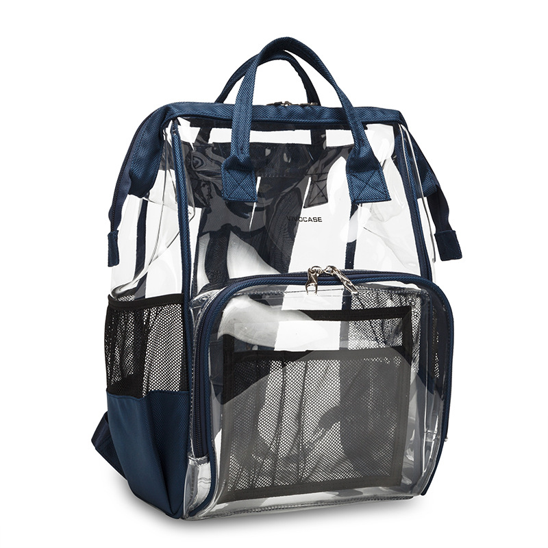Transparent Pvc Baby Diaper Bag Mommy Bags Large Capacity Waterproof Nappy Bag Mummy Maternity Travel Backpack