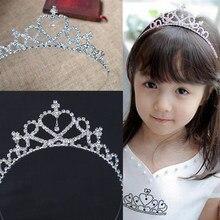 Faixas de cabelo de cristal para crianças, acessório de cabelo faixas de cabeça cristal para baile casamento, formatura, tiaras