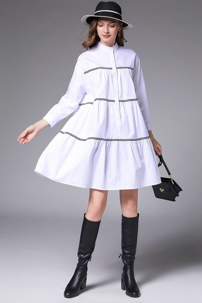 2020 spring fashion ladies plus size elegant cute cotton flare dress  beautiful party dress female midi dress vestidos xl-xxxxl