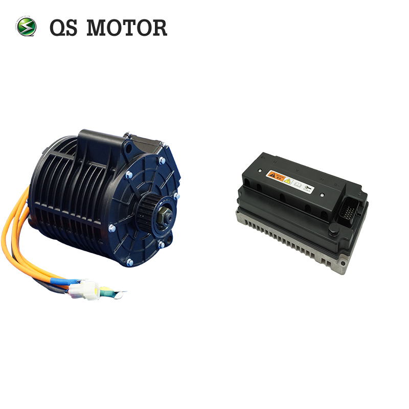 QS Motor  3000W 138 70H Mid Drive Motor  With EM150S Controller For Motorcycle 72V  Max Speed 100km/h