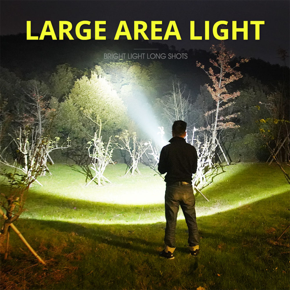 Searchlight Bright Handheld Portable Searchlight LED Rechargeable Flashlight QE