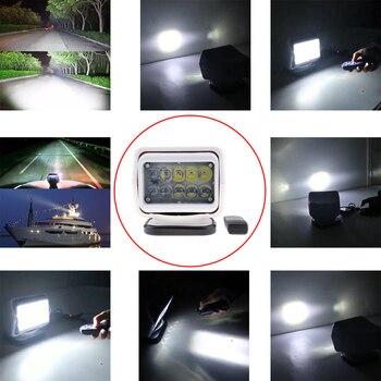 50W LED Marine Boat Car Remote Control Driving Lights Spot Work Light