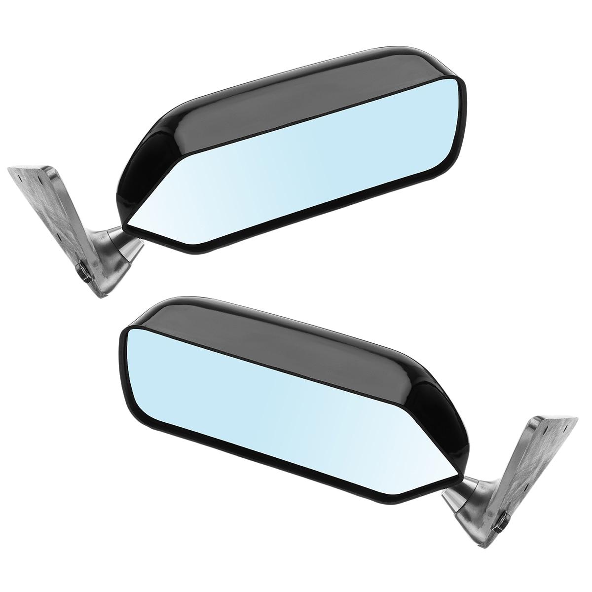 2x החדש אוניברסלי רטרו הצד האחורי מכונית קרפט כיכר F1 סגנון w/כחול משטח מראה מתכת סוגר אחורי מראה