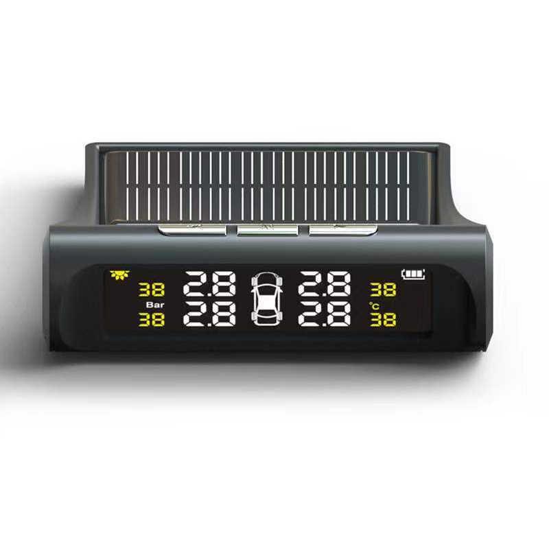 車ユニバーサルスマート TPMS タイヤ空気圧監視システムワイヤレスソーラーエネルギー Lcd ディスプレイセキュリティ警報タイヤ空気圧システム