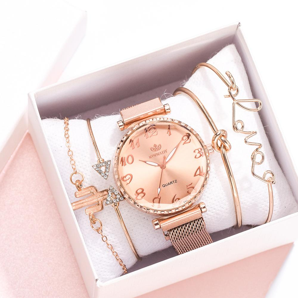 2020 Hot Sale 5pcs Set Watches Women Luxury Brand Starry Sky Dress Women Watches Bracelet Watch Ladies Gift Relojes Mujer