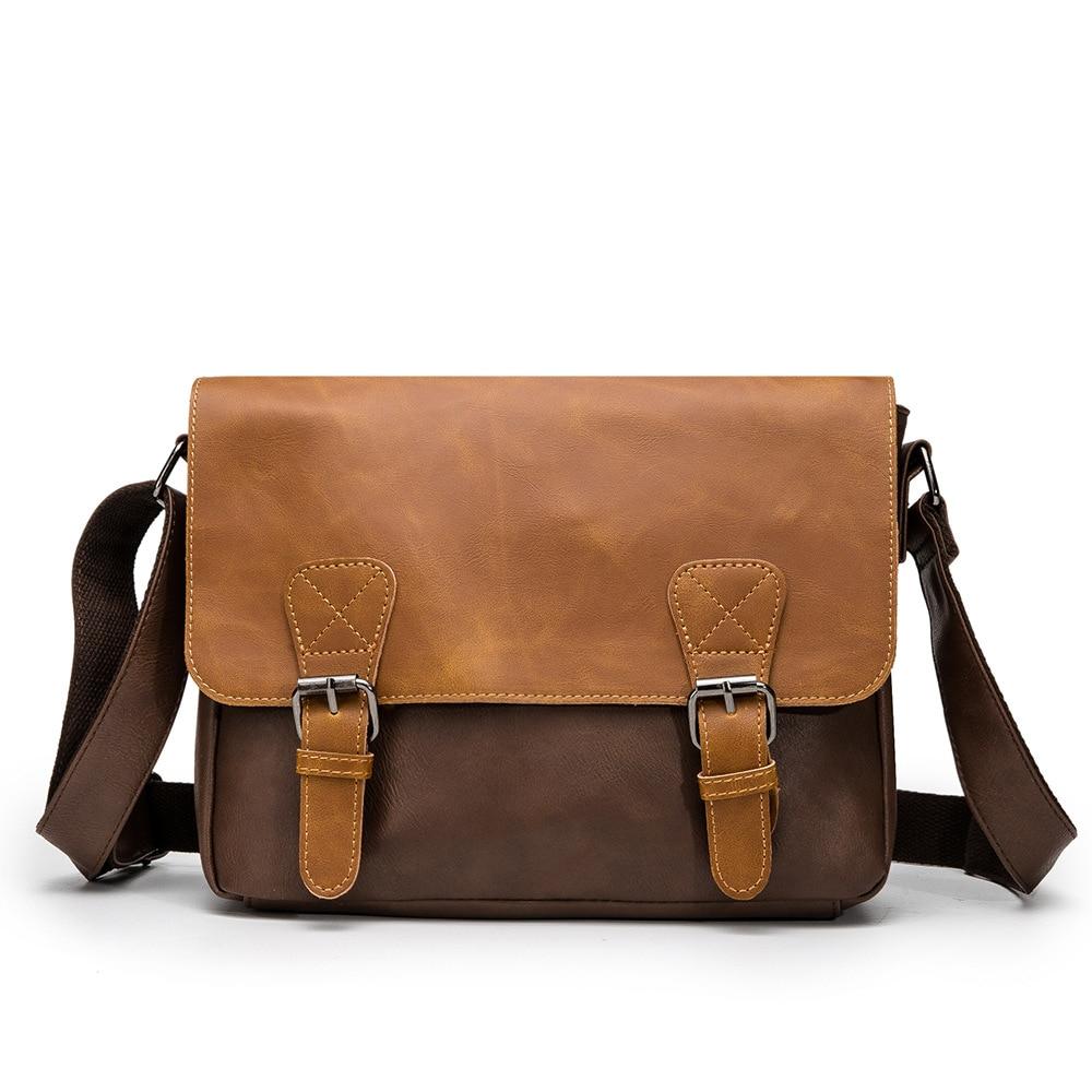 Top Designer Male Briefcase Bag Office Handbag Men Casual Style Business Bag PU Document Case Messenger Bags Portfolio
