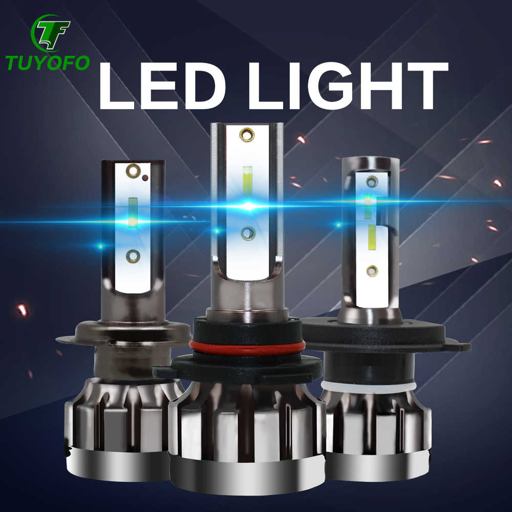 TOYUFO 2pcs  led headlight 6000LM H4 H7 LED Car Headlight 3000K/6500K/8000K ZES Chip H1 H11 9005  9006 LED fog Lamp Auto