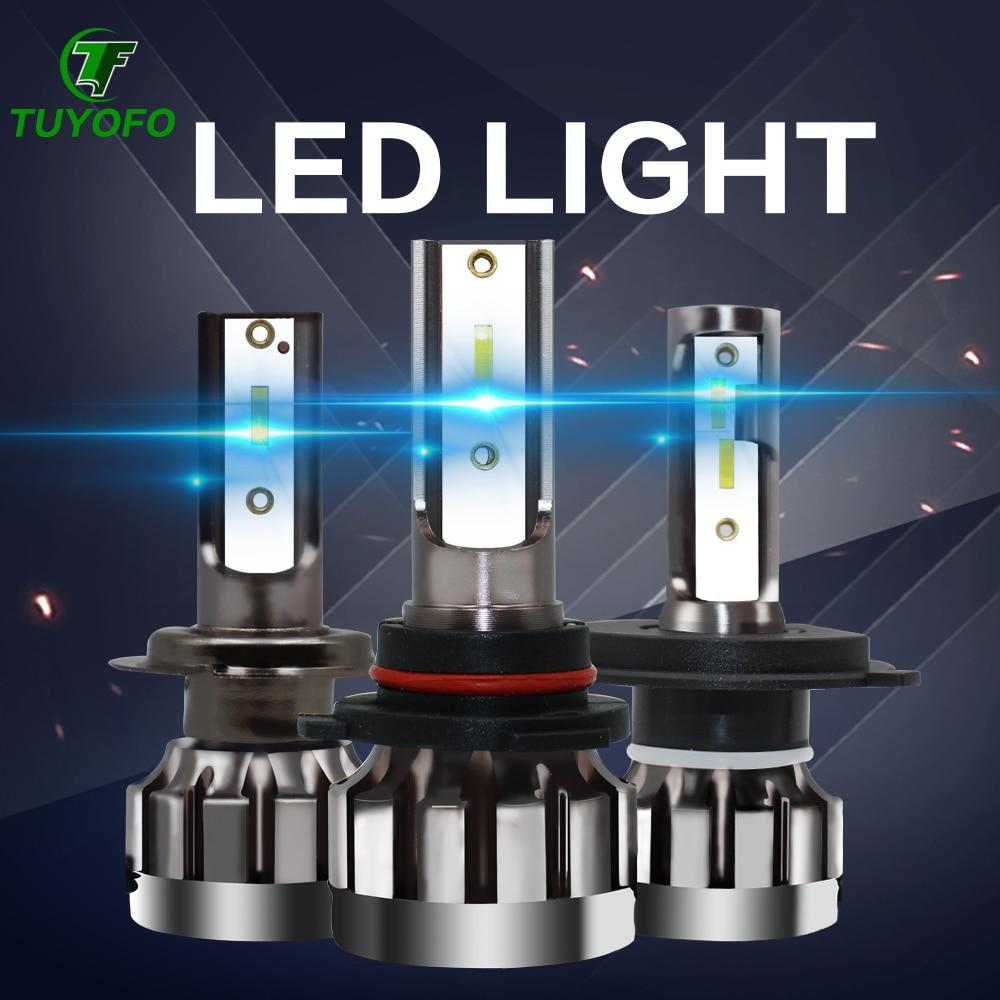 TOYUFO 2pcs  Led Headlight 6000LM H4 H7 LED Car Headlight 3000K/6500K/8000K ZES Chip H1 H11 9005  9006 LED Fog Lamp Auto